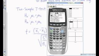 AP Statistics: Section 11.2a - 2 Sample T-Tests.wmv
