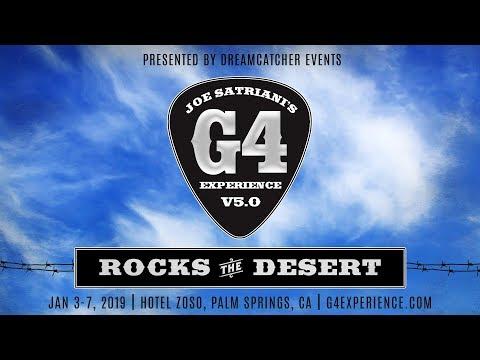 Joe Satriani G4 Experience 2019 Announce