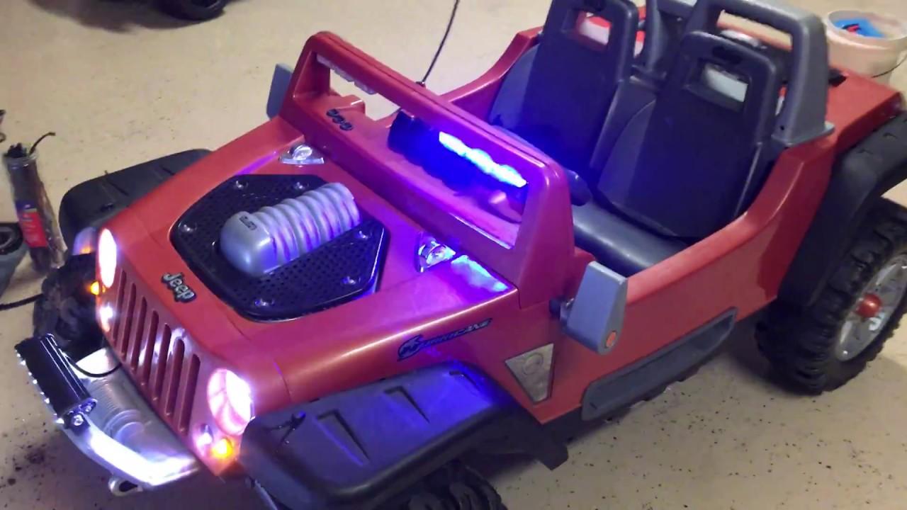 Jeep Hurricane Modifications- Custom- Power Wheels - YouTube