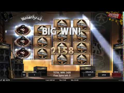 Motörhead Slot - Big Win During Free Spins!