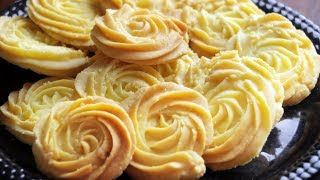 Butter Cookies Recipe | Eggless Butter Biscuits | Village Travel Food