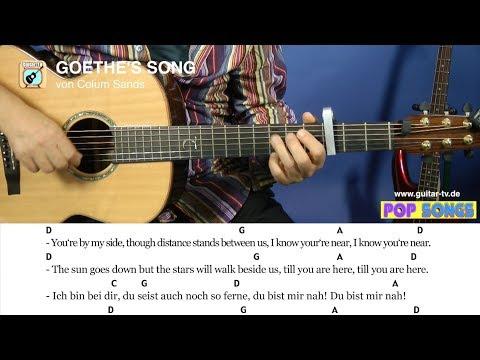 GOETHE'S SONG - Colum Sands, Cover • Lyrics • Chords • Tutorial • Gitarre lernen