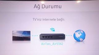 Samsung tv internete nasıl bağlanır. (2018) DETAYLI ANLATIM