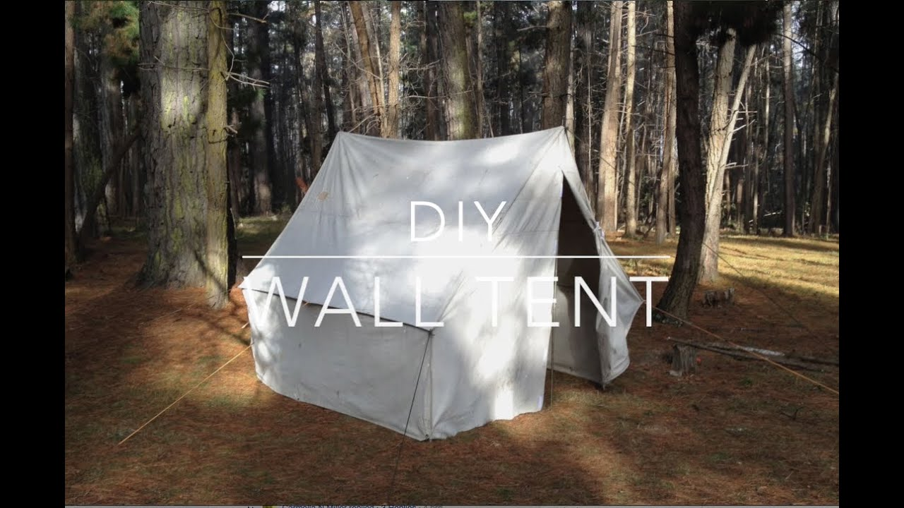 & DIY WALL TENT - YouTube