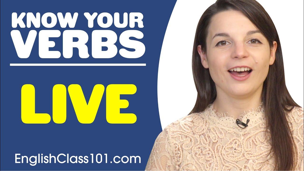 LIVE - Basic Verbs - Learn English Grammar