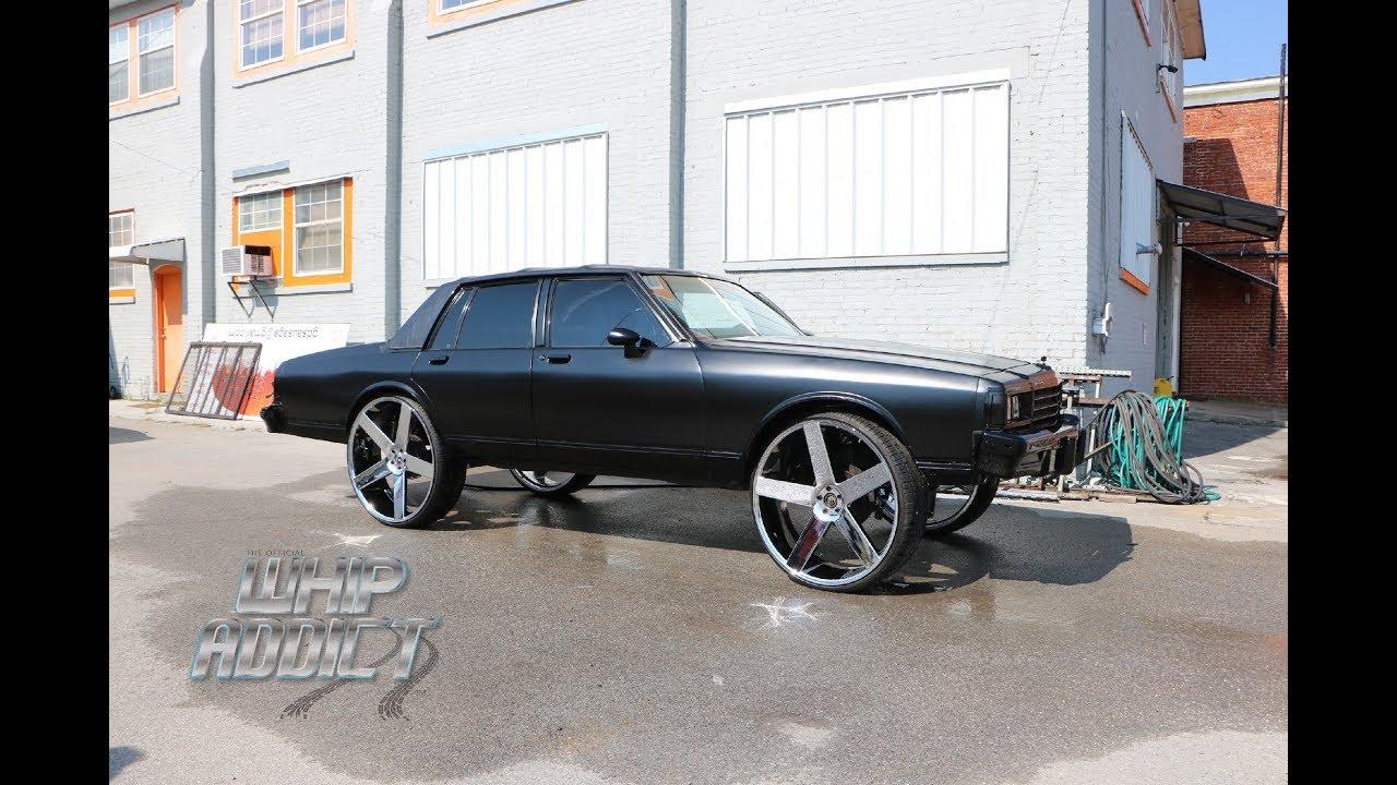 Whipaddict 39 darkside 39 matte black chevy caprice on dub - Custom box chevy caprice interior ...