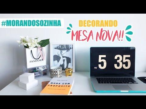 MORANDO SOZINHA - DECORANDO O HOME OFFICE   Kauany Santos