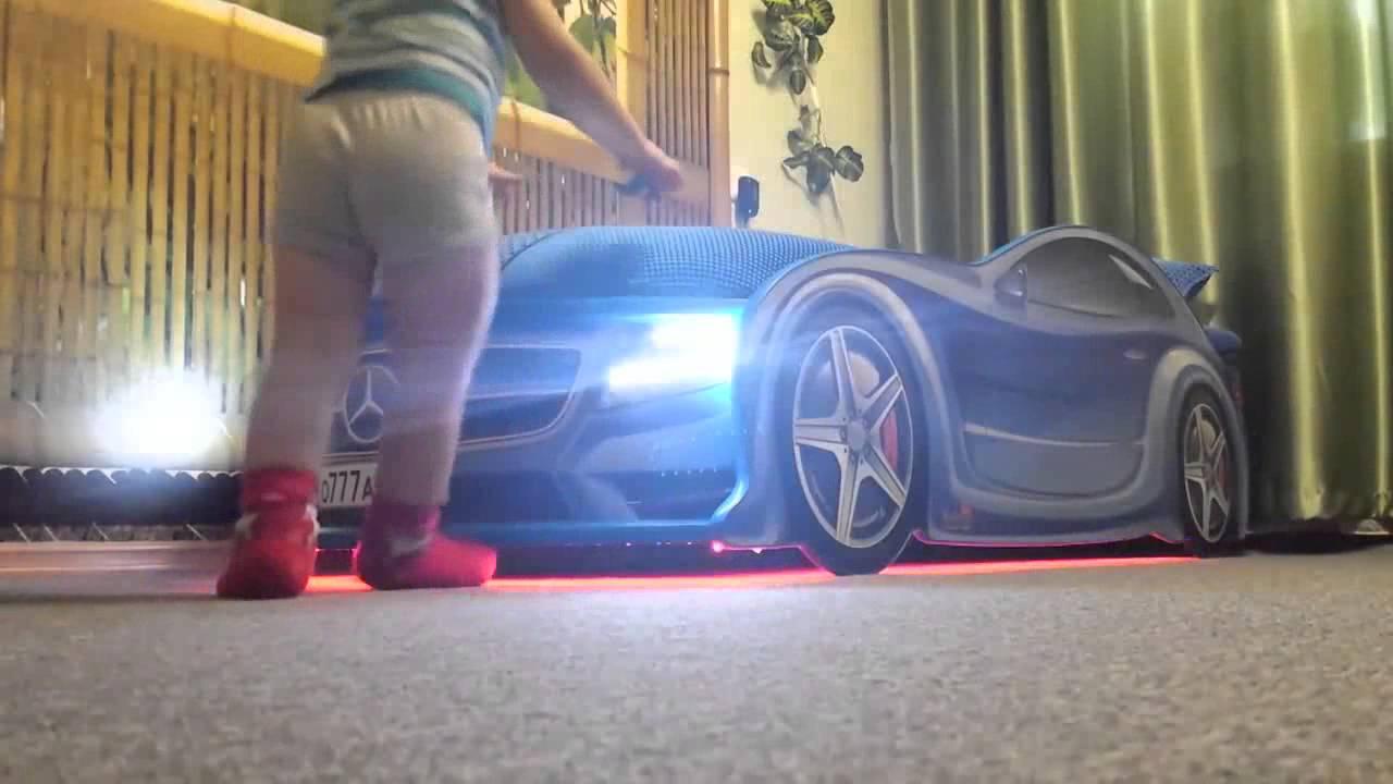 Детская кровать машина Jaguar Speedy Boy - YouTube