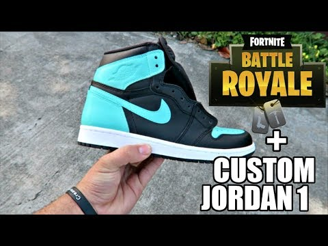5406fd2ed6f CUSTOM TIFFANY JORDANS + FIRST FORTNITE GAMEPLAY EVER !! (CRINGE ...