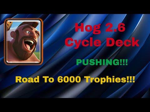 INSANE CYCLE! 5000+ 2.6 Hog Rider Cycle Pushing LIVE Gameplay  - Clash Royal