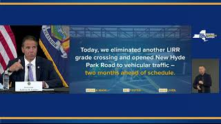 Governor Cuomo Announces New Hyde Park Grade Crossing Eliminated and Road Reopened Ahead Of Schedule