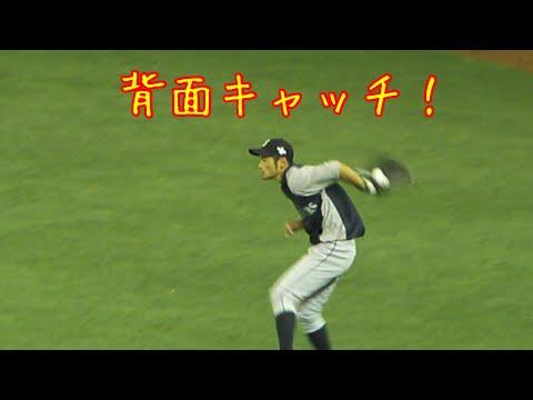 [4257 hits] Ichiro Suzuki's defense practice (イチローの背面キャッチ)_…