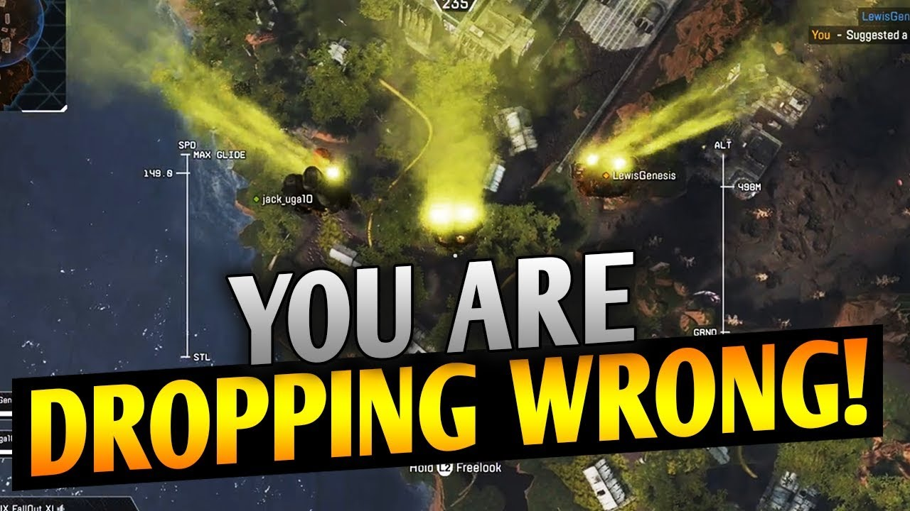 You're dropping wrong! Guide: How to Drop & Where to Drop in Apex Legends