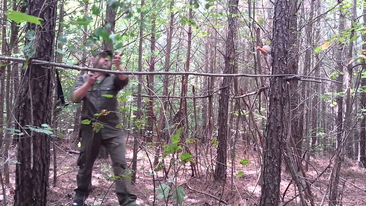 Bushcraft Deer Hunting Blind Quick And Simple Youtube