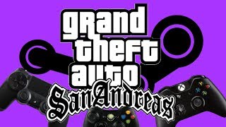How to play San Andreas on Steam with an Xbox One, PS4 or Xbox 360 Controller (XInput Device) PC