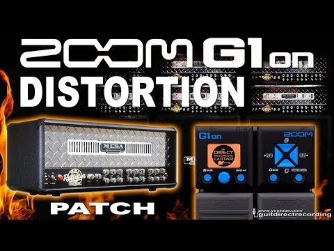 ZOOM G1on DISTORTION G1xon Mesa Boogie Amp Simulation [Direct PC].
