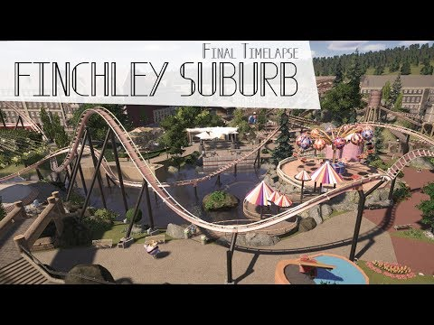 FINCHLEY SUBURB complete park final timelapse - PLANET COASTER