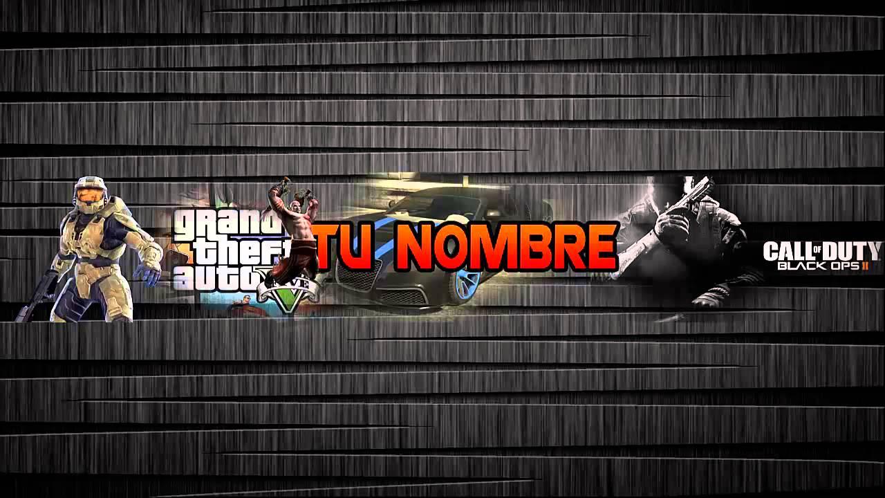 Banner editable para Youtube con tematica de videojuegos/ Link en la ...