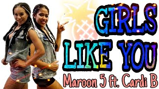 ZUMBA FITNESS | GIRLS LIKE YOU - MAROON 5 FT. CARDI B | MICHELLE VO | Dance Workout | US - UK 2018