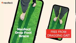Foot Drop Brace after stroke. Neofect Soft AFO return to normal walk