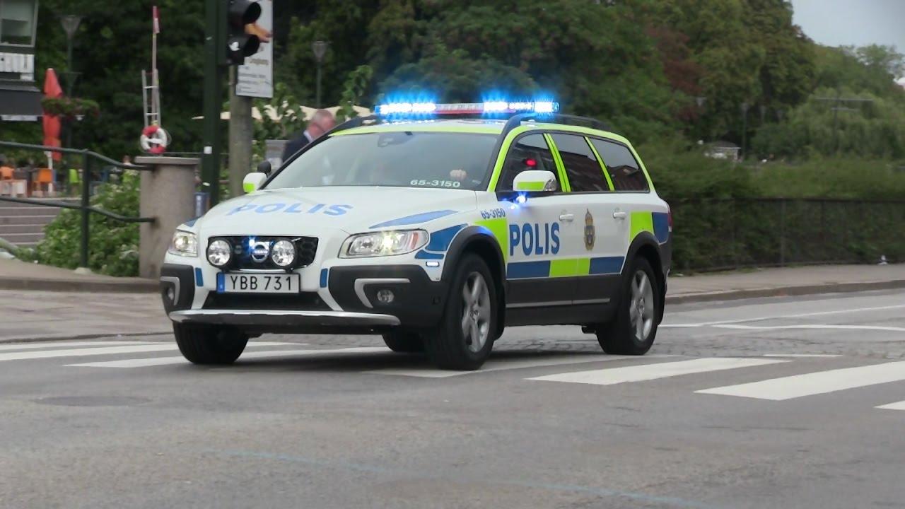 2016 Volvo Xc70 >> Volvo XC70 - Utryckning Polis Malmö - YouTube