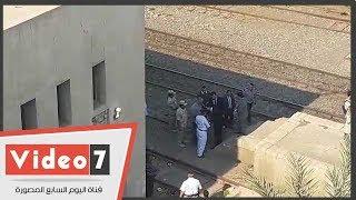 النيابة تعاين حادث انقلاب قطار المرازيق في البدرشين