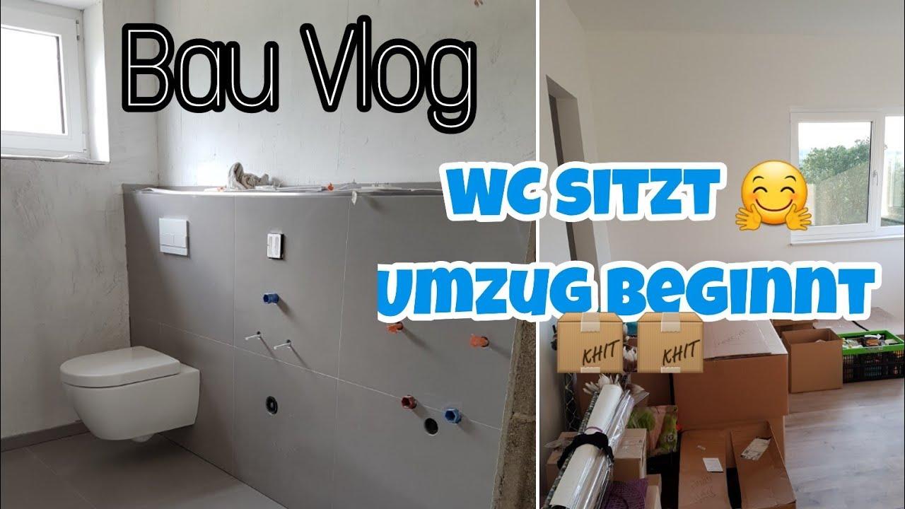 hausbau blog 27 umzug beginnt wc sitzt erste lampe h ngt glitzerfuge im bad diesiwuchins. Black Bedroom Furniture Sets. Home Design Ideas