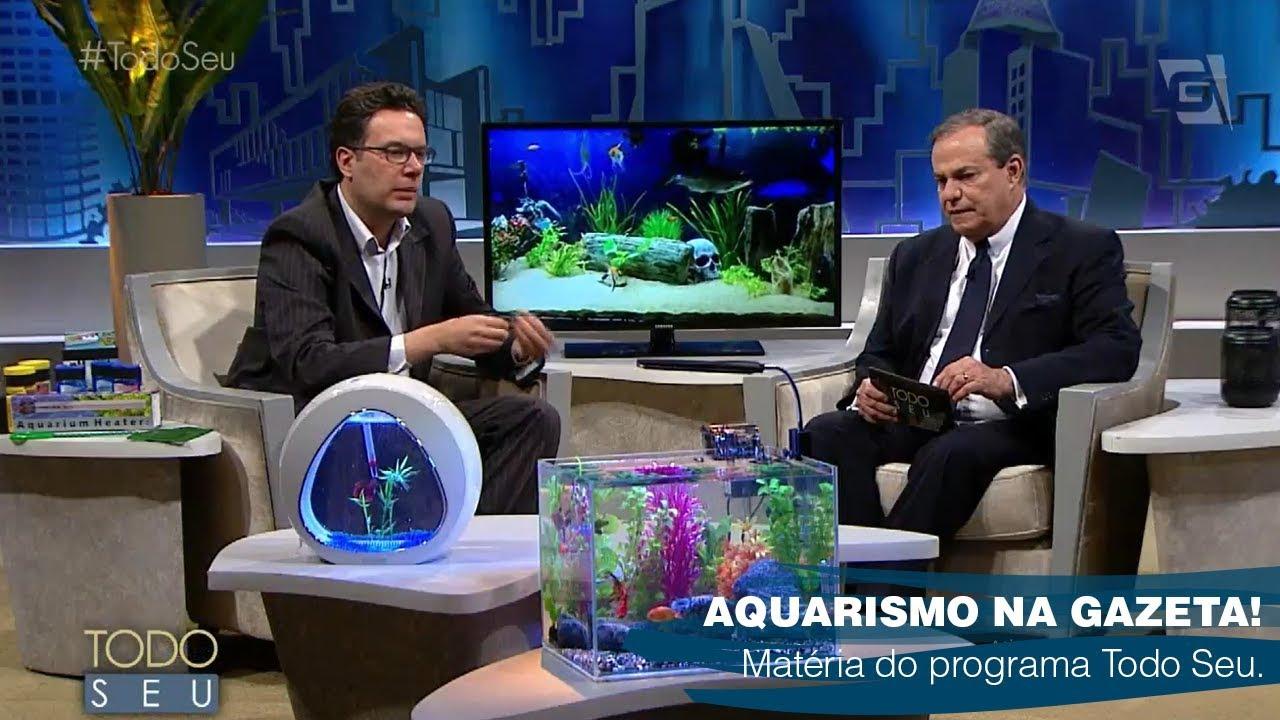 Aquarismo e Cuidados com Peixes no Todo Seu da TV Gazeta