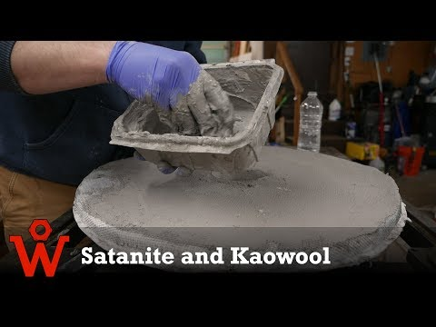 Finishing my Metal Melting Furnace | Talking about Satanite and Kaowool for a Foundry