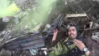 Philippine Special Forces Helmet Cam Of Intense Urban Combat Rescue Under ISIS Fire In Marawi