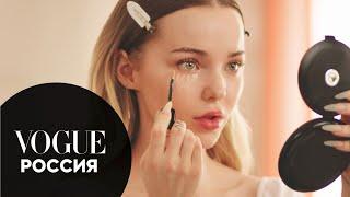 Дав Камерон показывает как создать нежный романтический макияж Vogue Россия