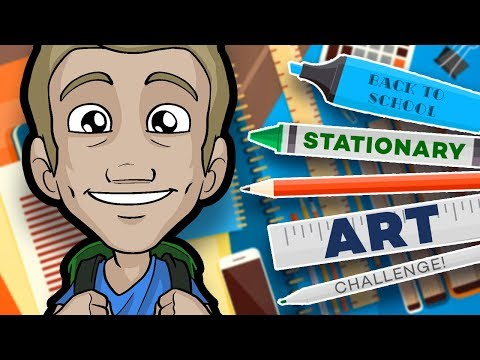 STATIONARY ART CHALLENGE! – Back to School in Style!