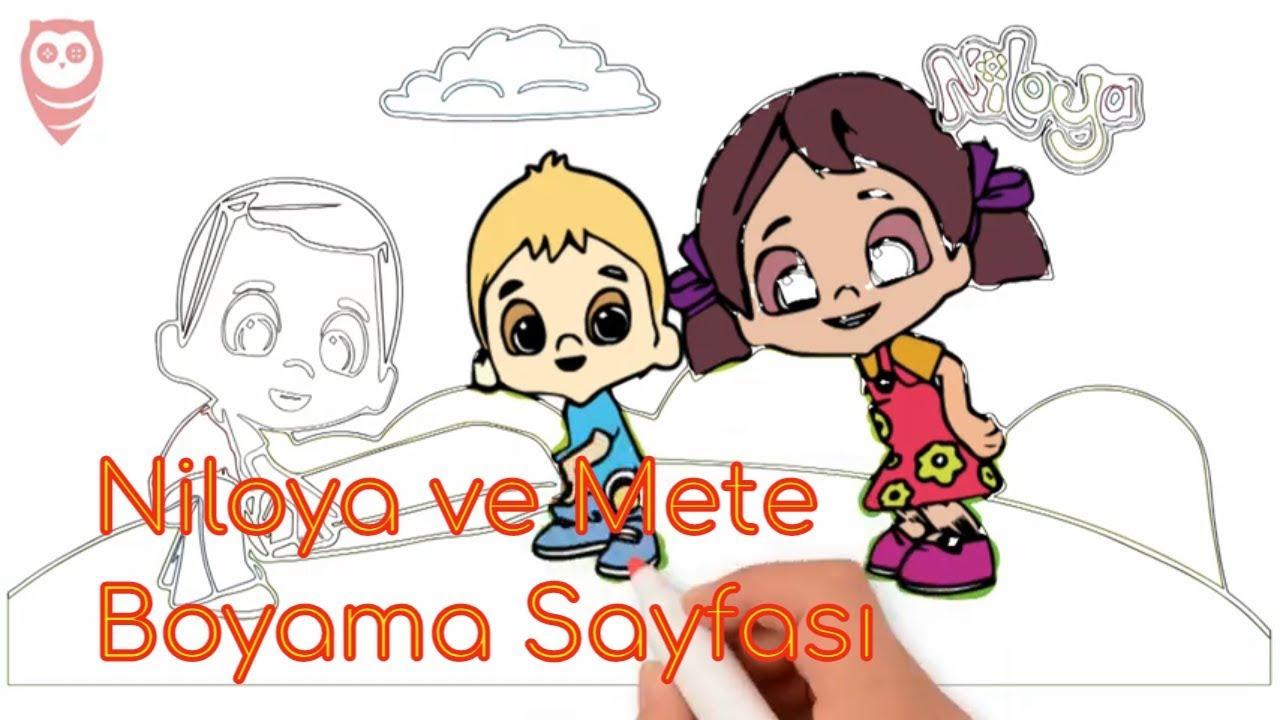 Niloya Mete Renklendirme Boyama Oyunu Ve çizim Sayfası çocuklar Için