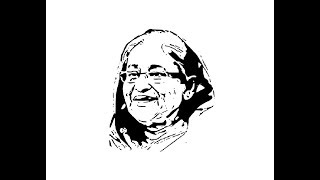 How to draw Sheikh Hasina face pencil drawing step by step