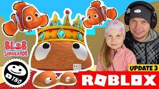 NEMO and the KING of SLUGS + CODES-BLOB Simulator! | Roblox | Daddy and Barunka CZ/SK