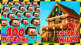 100 WIDZÓW zbudowało EPICKĄ WILLĘ! *chce w niej zamieszkać*