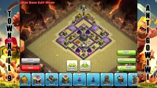 Clash of Clans: Town Hall 9 Anti GoWiWi/GoWiPe CW Base