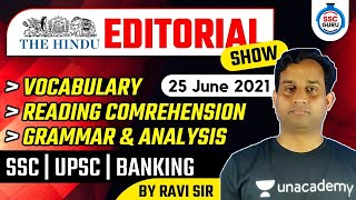 9:00 AM - The Hindu Editorial Show by Ravi Sir | Important Vocab \u0026 Analysis | 25 June 2021