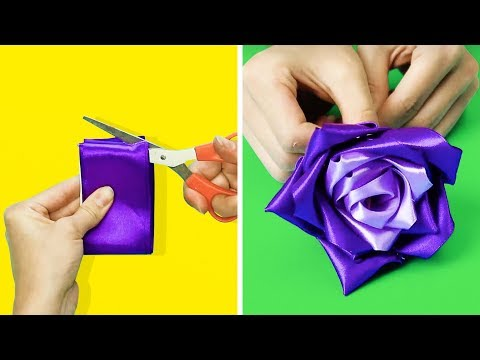 19 WONDERFUL FLOWER CRAFTS TO MAKE IN 5 MINUTES thumbnail