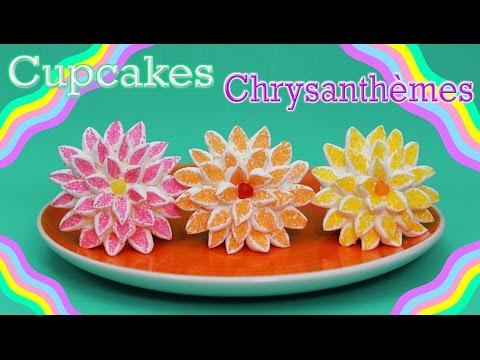 Cupcakes En Forme De Fleur Chrysanthemes Youtube