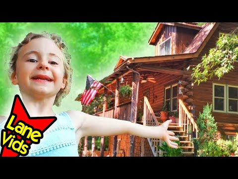 Sleeping in a REAL Cabin! AirBNB Tour & Tickle Kids at Restaurant! // Bismarck, AR & Hot Springs, AR