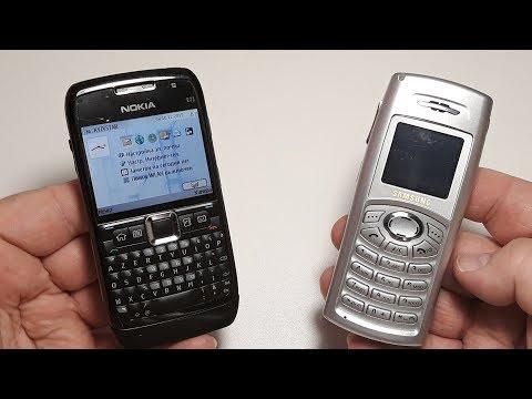 Nokia E71 and Samsung C100. Телефоны из моей коллекции. Посылка не от подписчика