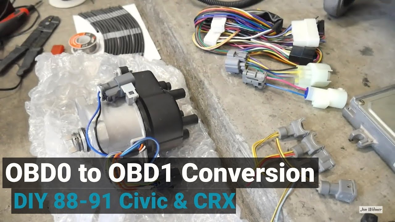 How To Convert Obd1 For Any Obd0 Civic Crx Integra Youtube Obd2 Distributor Wiring Diagram