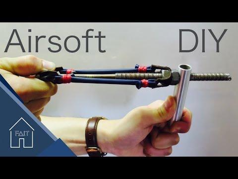Make a 4$ Rubber Band Ball Gun (Airsoft )-DIY