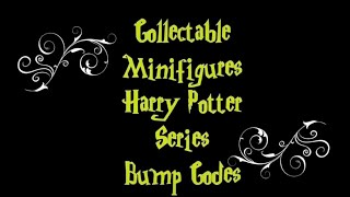 LEGO Harry Potter Minifigures BUMP CODES
