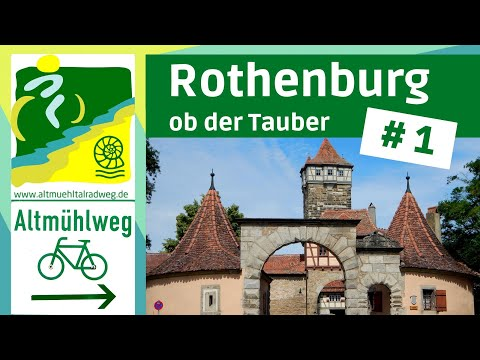 AltmühltalRadweg [1] ▶Rothenburg Ob Der Tauber, Colmberg, Leutershausen [RADREISE DOKU]