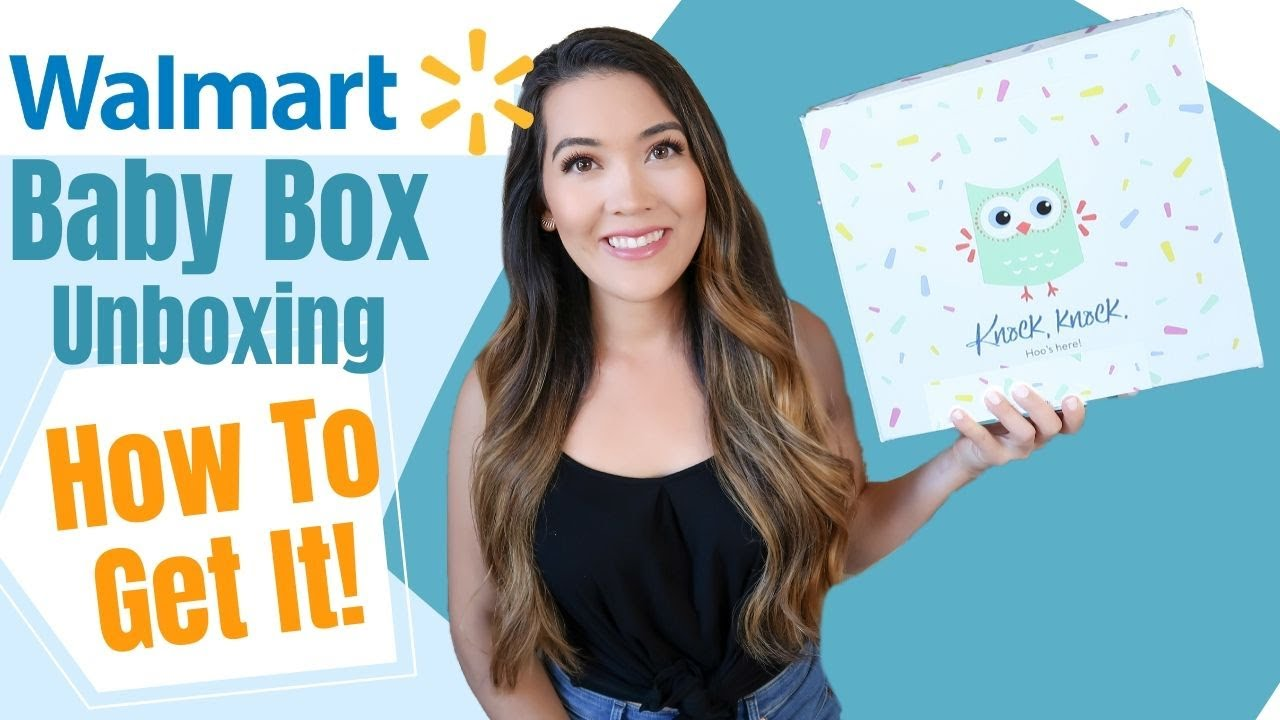 WALMART BABY BOX 2020 Unboxing & How To Get It   Free Baby Stuff 2020   Baby Registry Freebies $$$