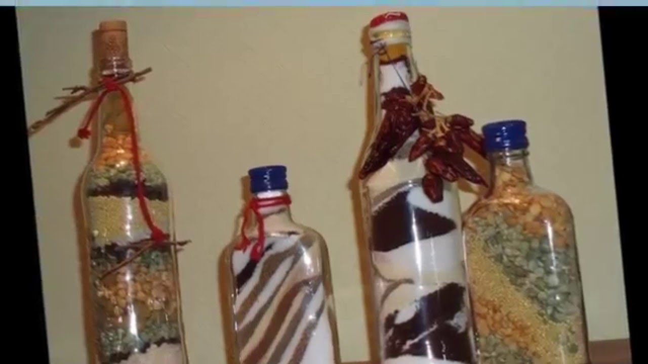 Украшения из бутылок для кухни своими руками фото