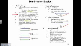 Multimeter basics, voltage and resistance tests (a free SD Premium video)