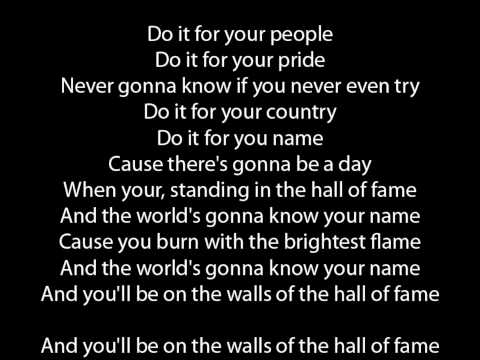 The Script Hall Of Fame (Original Version) lyrics